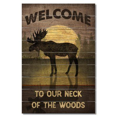 Photo of Loon Peak® Our Neck of the Woods Wall Decor, Wood in Brown/Yellow, Size Small (12″ – 24″ High) | Wayfair | Home Decor