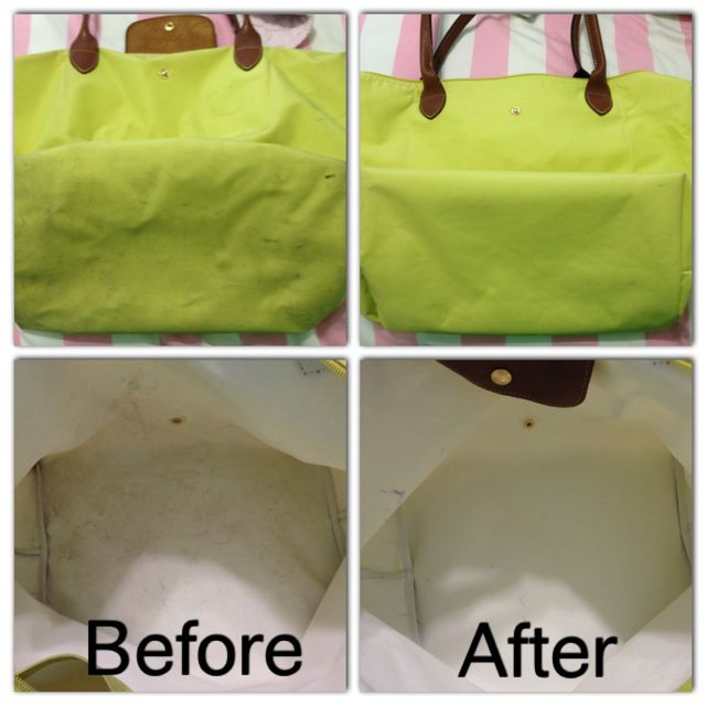 Longchamp bags can be cleaned in the washing machine! Wash alone on  delicate cycle 3f52ce56e42d4