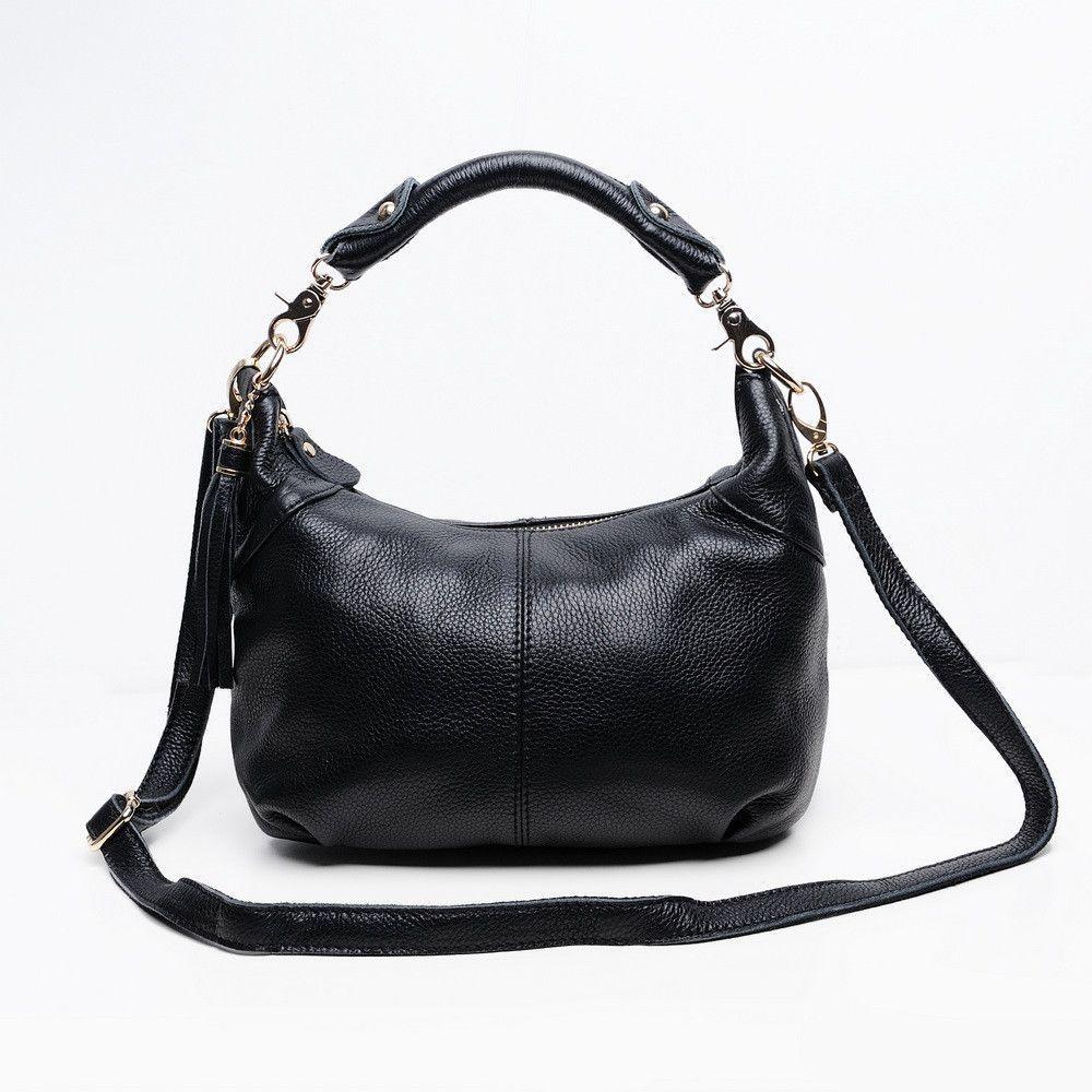 Candy color Fashion women Bags 100%Genuine Leather Women's Shoulder Handbag hobos diagonal Purse Satchel cowhide ladies soft bag