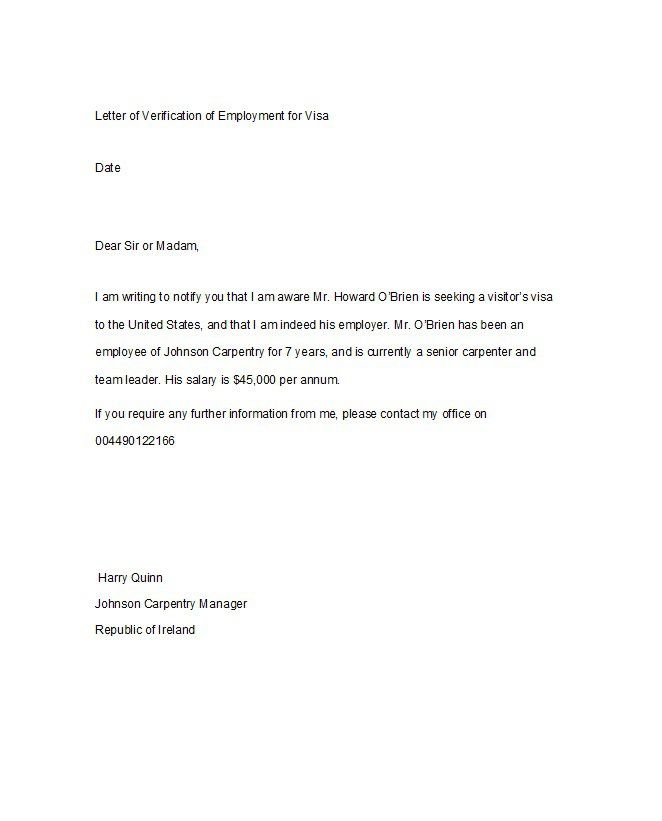 Download Proof of Employment Letter Template 13 Download - employment letter example