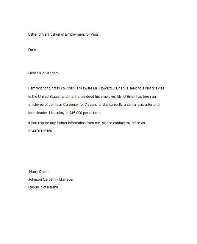 proof employment letters verification forms templates application - sample proof of employment letter