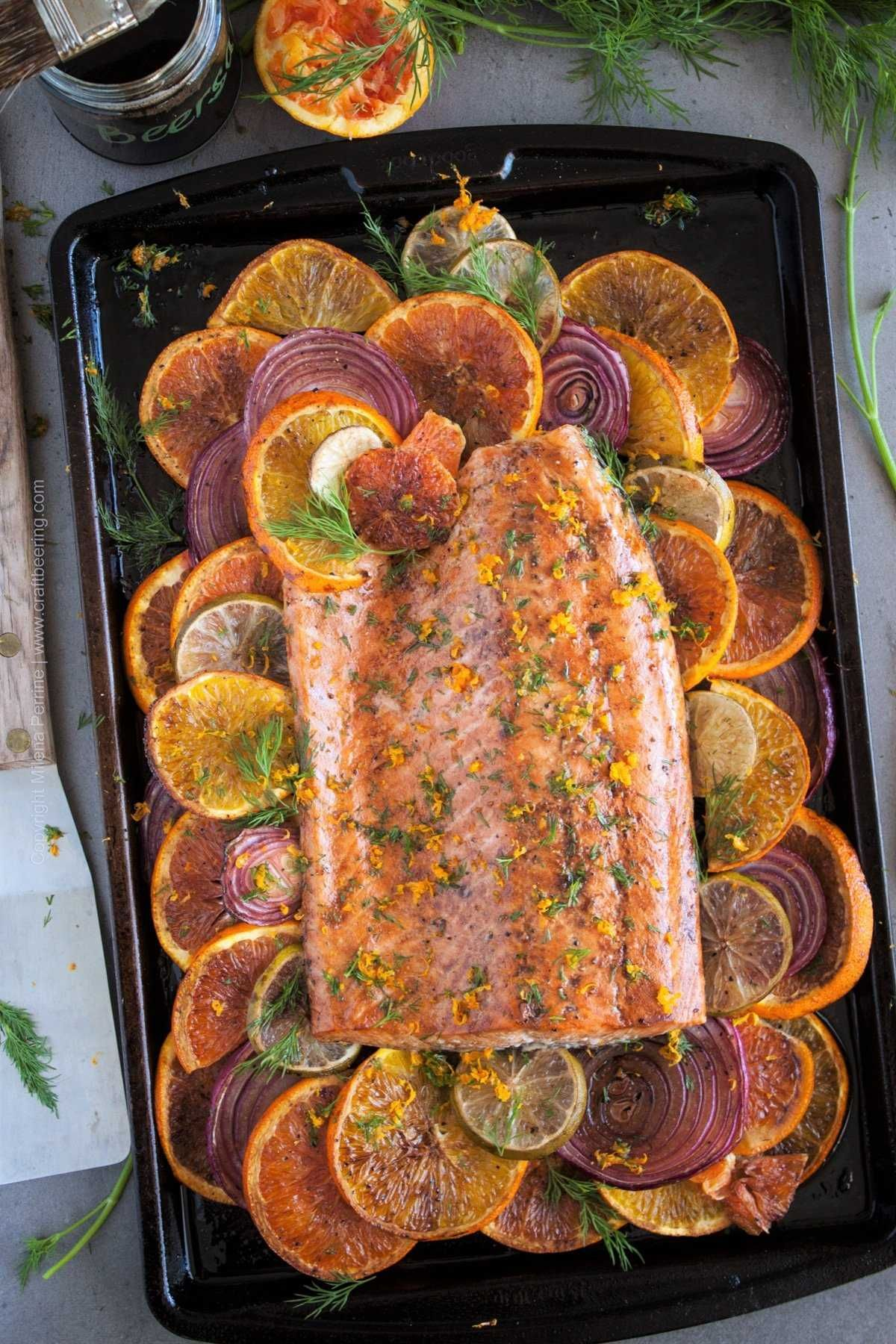 Citrus Salmon with - Sweet & Sour Flaky Goodness