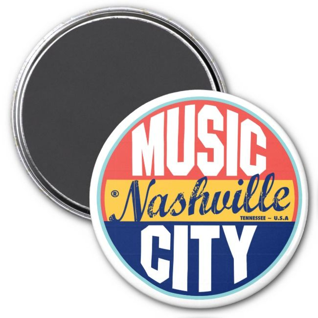 Nashville Vintage Label Magnet Affiliate
