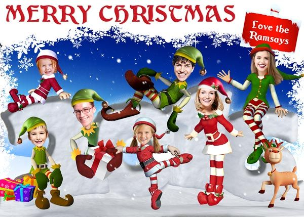 Elf Holiday Card Funny Christmas Photo Cards Funny Christmas Photos Christmas Photo Cards