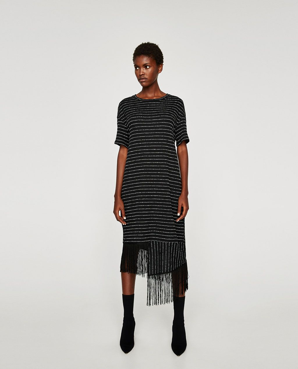 88ca359d RUSTIC DRESS WITH FRINGES-View all-DRESSES-WOMAN | ZARA United States