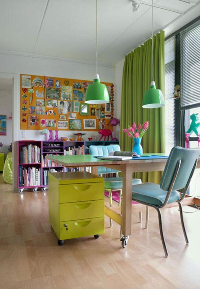 Oficinas dise o creatividad35 oficinas de trabajo pinterest oficinas oficina en casa y for Decoracion de oficinas creativas