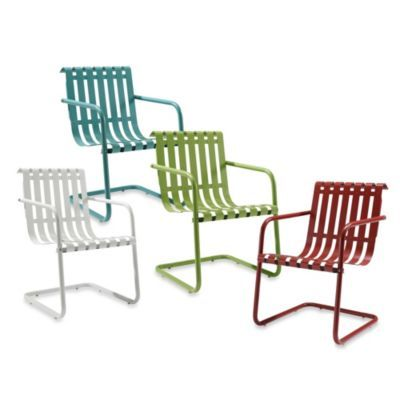Gracie Retro Spring Chairs Bedbathandbeyond Com And These Too Metal Patio Furniture Outdoor Makeover Outdoor Chairs