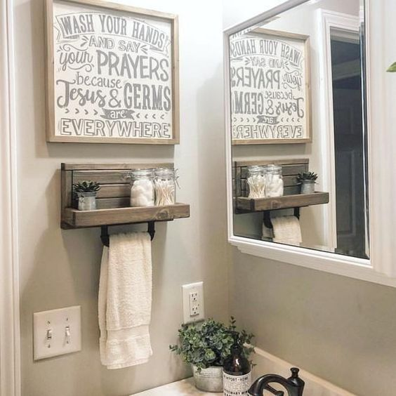 Small Hand Towel Holder, Towel Rack, Bathroom Decor, Towel Rack, Farmhouse Bathroom, Towel Hook, Kitchen Towel Holder Industrial -   - #bathroom #cutehomedecorations #decor #diybathroomdecor #farmhouse #Hand #holder #homediycheap #Hook #Industrial #Kitchen #rack #Small #towel