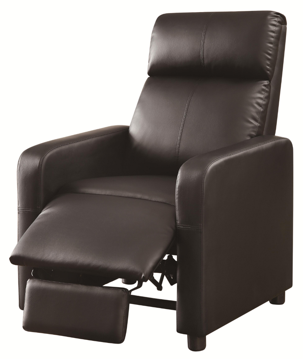 Strange Coaster Cs181 Push Back Recliner Chair In Dark Brown Gmtry Best Dining Table And Chair Ideas Images Gmtryco