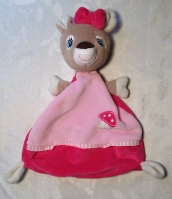 LOVEY DouDou Rare Pusblu Pink Reindeer Baby Security Blanket Knotted Toy  | eBay #securityblankets