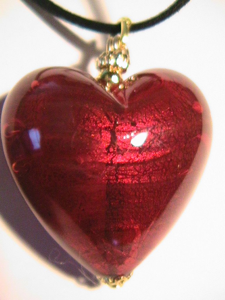 The big fat red heart a ruby red genuine murano glass heart the big fat red heart a ruby red genuine murano glass heart pendant mozeypictures Image collections