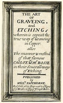 William Faithorne: title-page to The Art of Graveing and Etching (London,1662) - British Printed Images to 1700 database