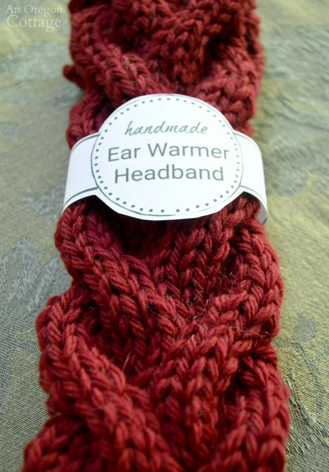 Free Printable Gift Labels for Easy Knitted Cable Headbands {+ Cable ...
