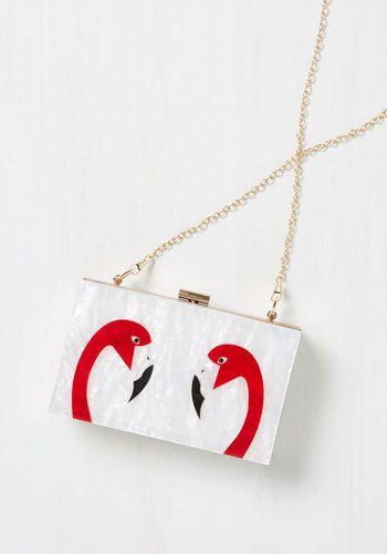 Fan the Flamingo Clutch, @ModCloth