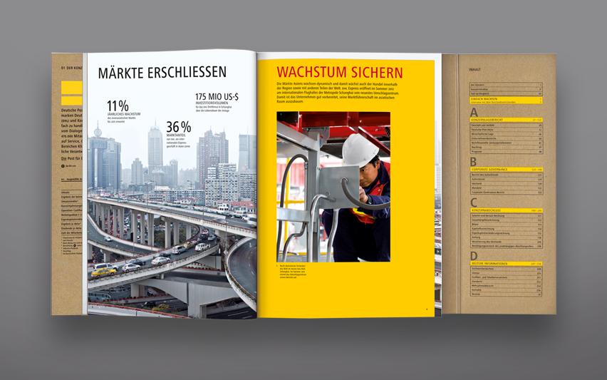 Deutsche Post DHL Annual Report 2011 Graphis Brochure