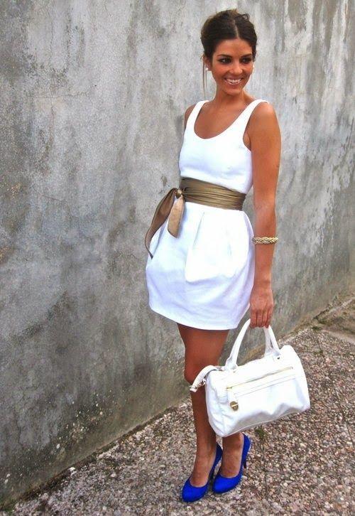 White Dress Street Style - Fashion Trends 2013