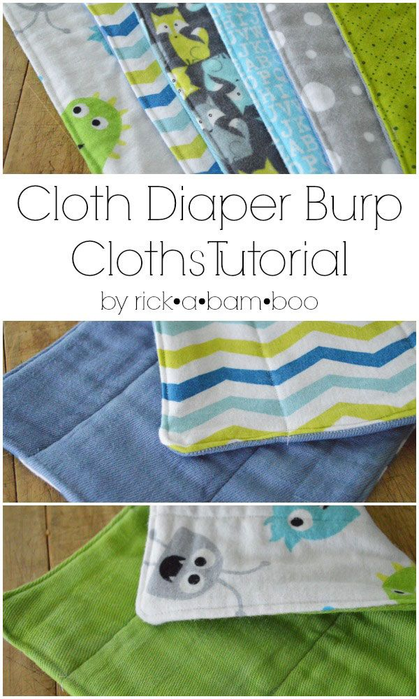 Make Your Own Cloth Diaper Burp Cloths With This Two Part Tutorial