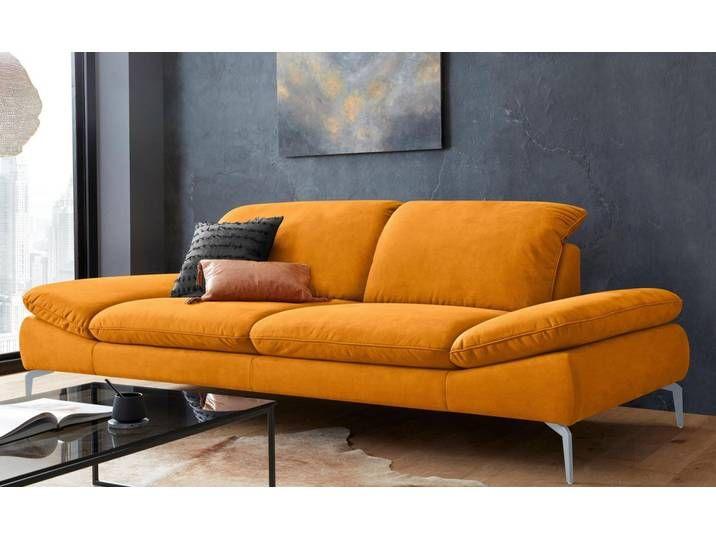 W Schillig 2 5 Sitzer Enjoy More Mit Sitztiefenverstellung Fusse Silber Matt Breite 262 Cm Gelb Brandy S37 Haus Deko Wohnen Sitzen