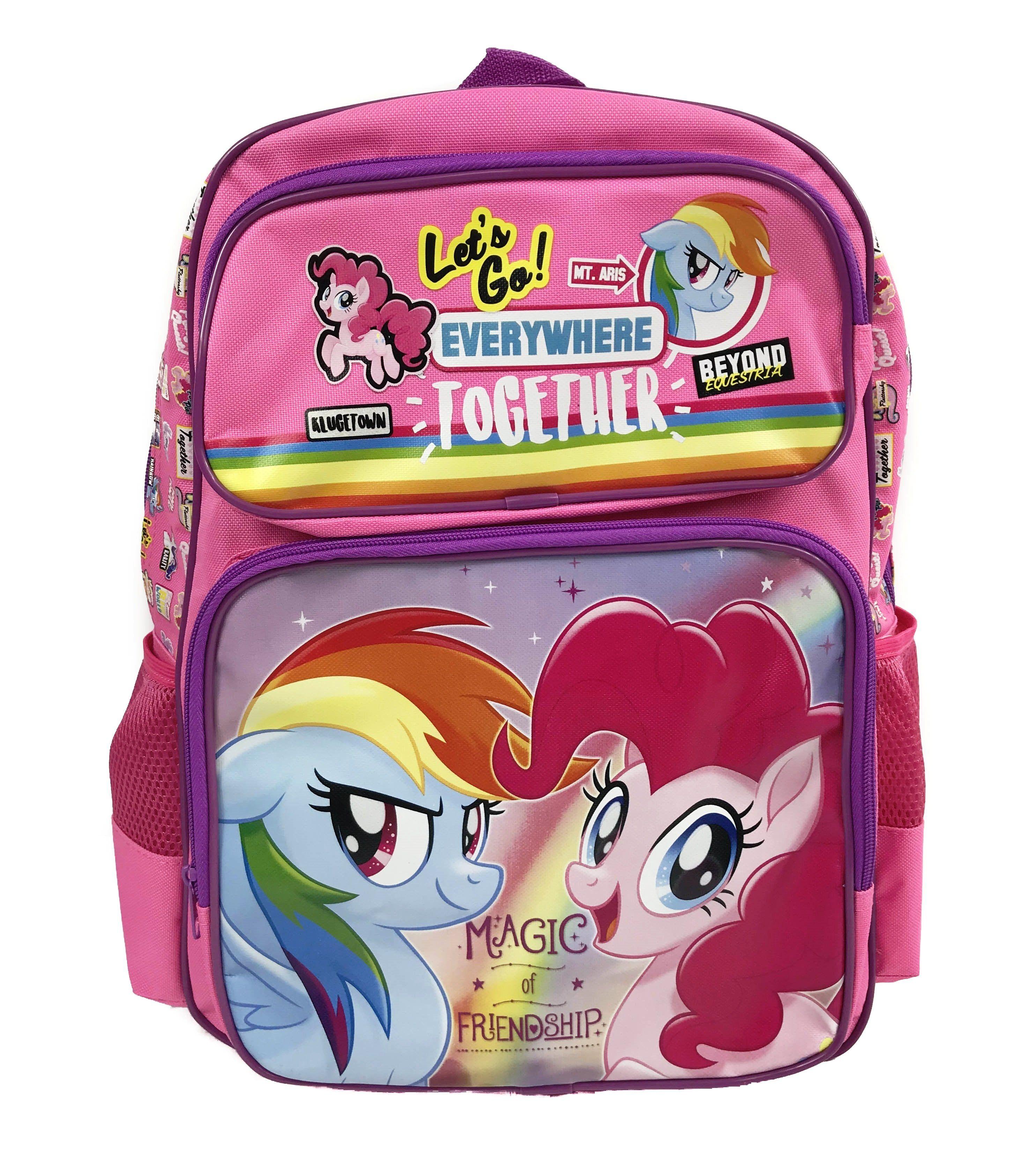 My Little Pony 16 Pink Backpack Pinkie Pie Rainbow Dash