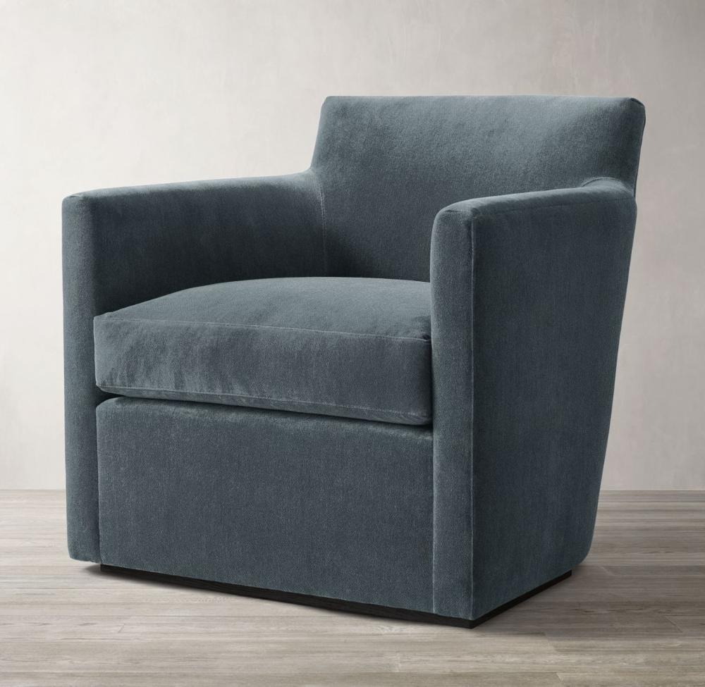 Oliver Barrelback Track Arm Swivel Chair Modern Swivel Chair Arm Chairs Living Room Swivel Chair #swivel #arm #chairs #living #room