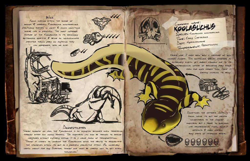 Koolasuchus Dossier Fanmade By Djaymasi With Images Ark Ark