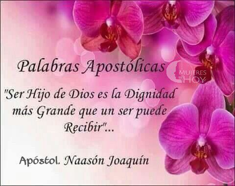 """""""Ser Hijo de Dios es la Dignidad más Grande que un ser puede Recibir""""...  #ADJ,NJG"""