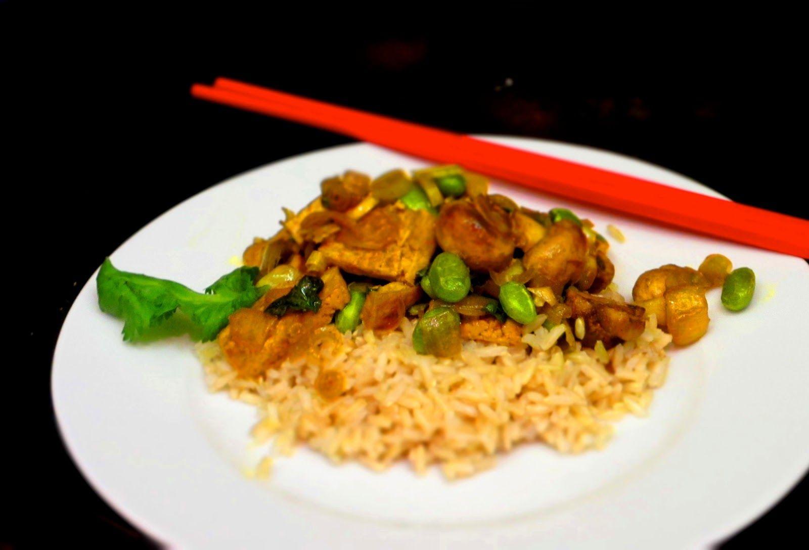 Lemongrass Tofu with Edamame and Mushrooms | Quick, Cheap Kitchen