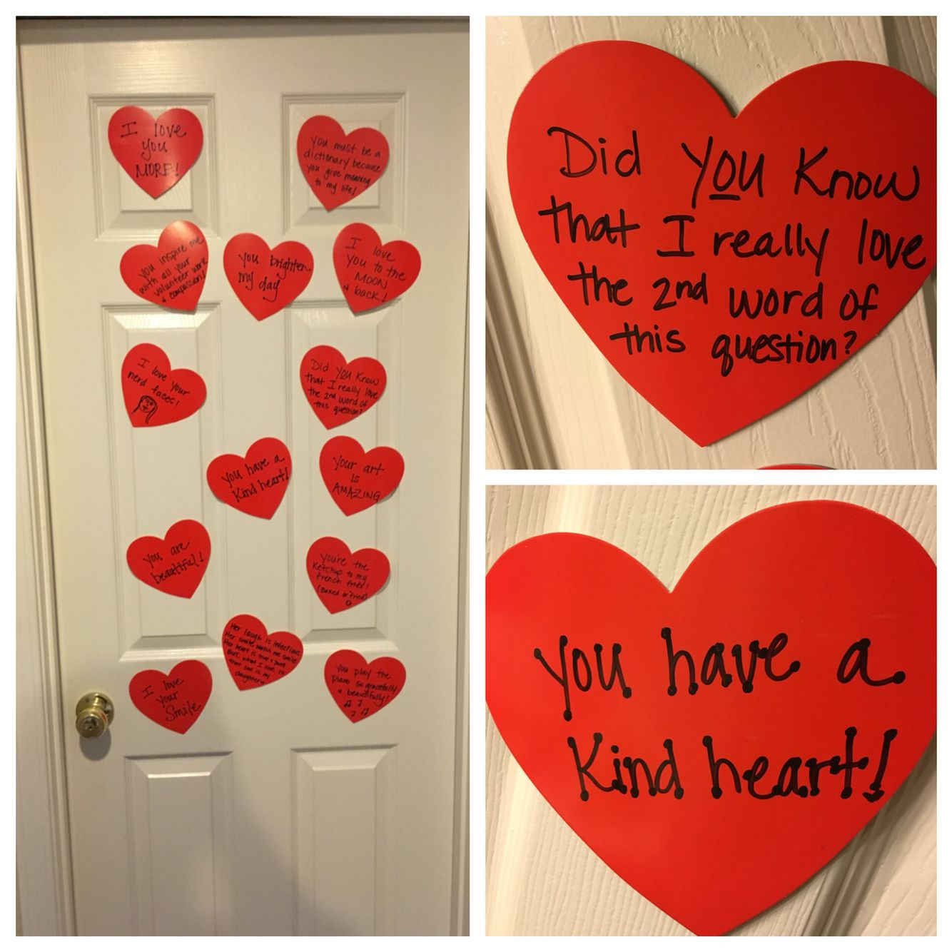 For Valentine S Day This Year I Put Up Cute Love Notes On My Daughters Bathroom Door Starting Valentine Gift For Daughter Valentine Notes Diy Valentines Gifts