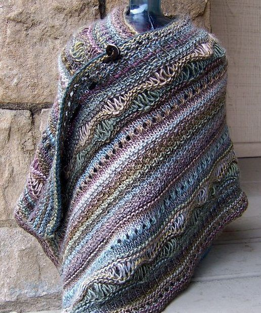 Knitting Patterns For Ponchos And Shawls : Free knitting pattern for stitch sampler shawl