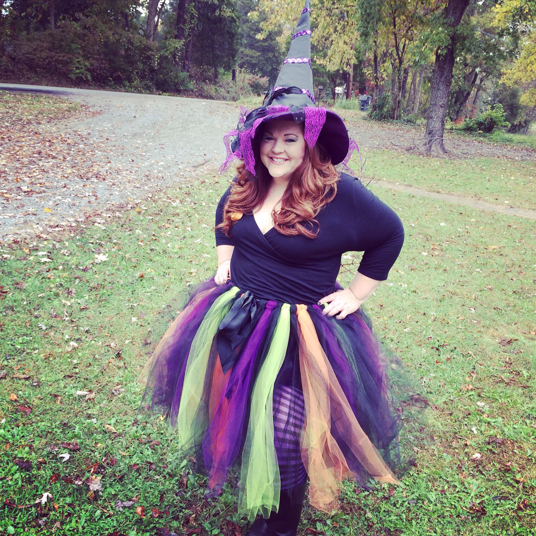 Halloween costume. DIY. Witch. Hat Pier One 19.99. Tights