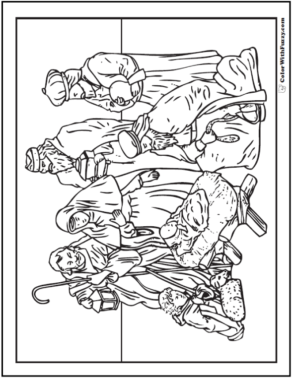 Nativity Scene Coloring Page | Pinterest | Filing, Pdf and Painting ...