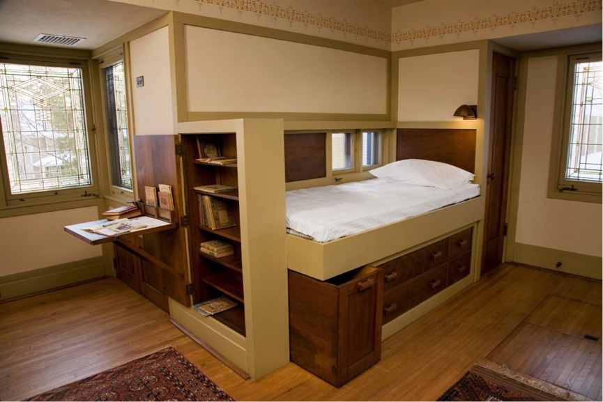 William Gray Purcell American 1880 1965 And George Grant Elmslie American Born Scotland 1869 1 Craftsman Style Interiors Built In Furniture Built In Bed