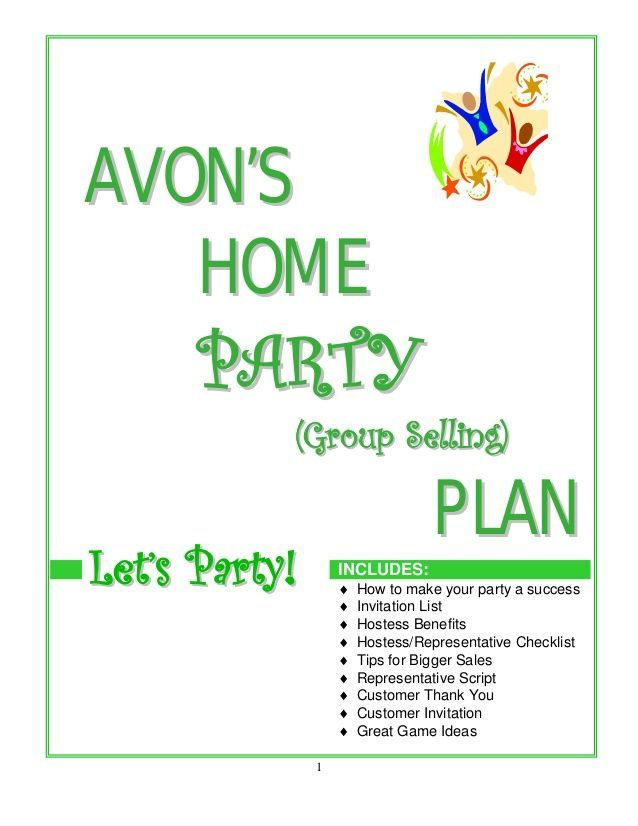 Avon Home Party Plan Avon Business Resources Pinterest Avon