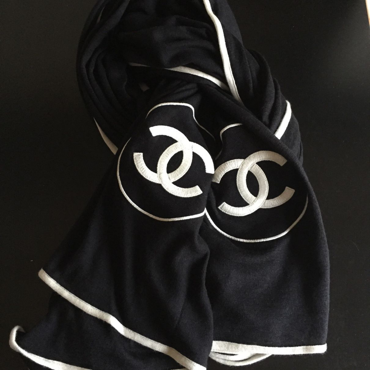 big Chanel cashmere scarf   Chanel in 2019   Chanel, Chanel scarf ... 17e741734f3