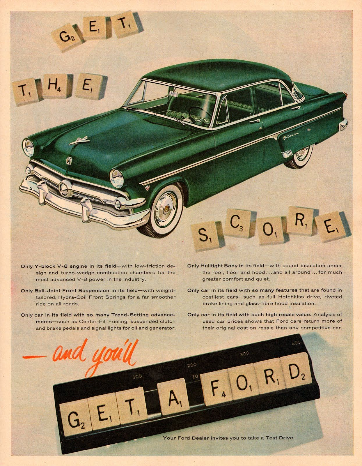 Other Merch & Memorabilia Ads Vintage 1954 Magazine Ad Ford Only Car In Its Field With Such High Resale Value Merchandise & Memorabilia