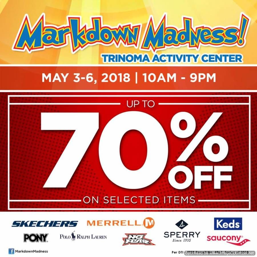 3526aea90f40 Get up to 70% OFF at Markdown Madness in TriNoma - May 3 to 6