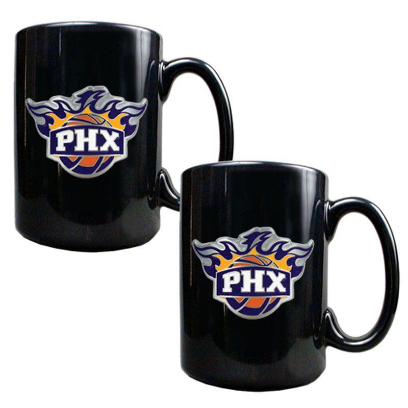 Phoenix Suns 15oz. Coffee Mug Set - Black