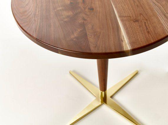 Side Show Bistro Table Mid Century Modern Round Pedestal