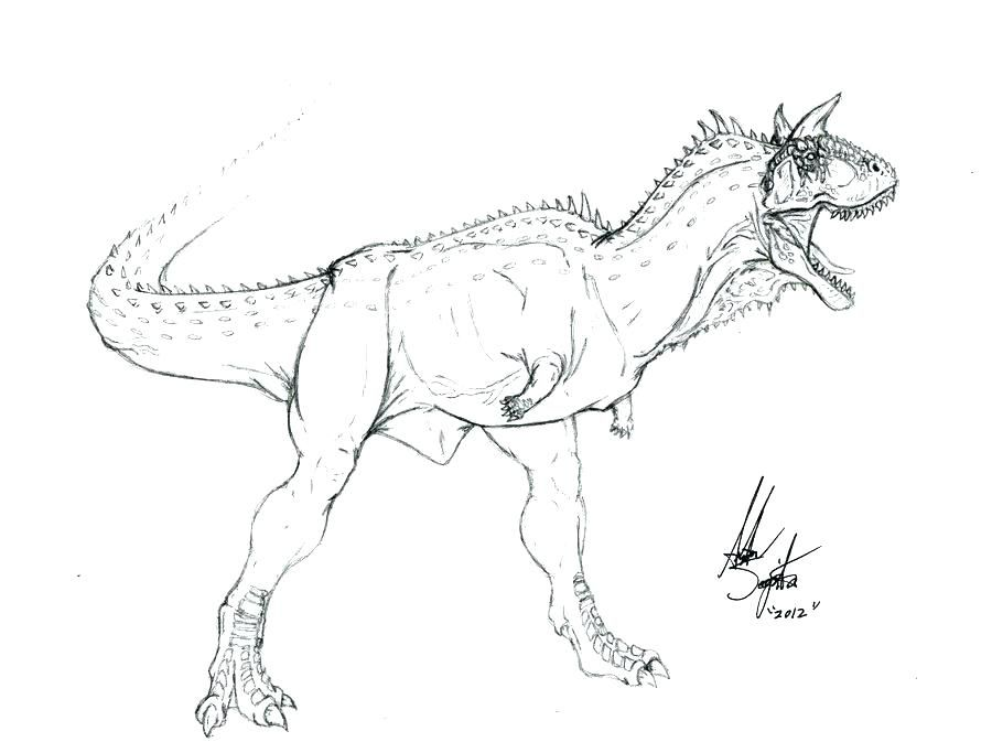 Carnotaurus Coloring Page Detailed Coloring Pages Christmas