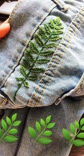 52 Trendy ideas embroidery jeans tutorial#weddinginspiration #weddingflowers #we...
