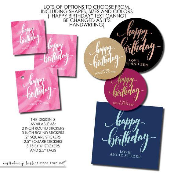 Happy Birthday Sticker Gift Label Tween