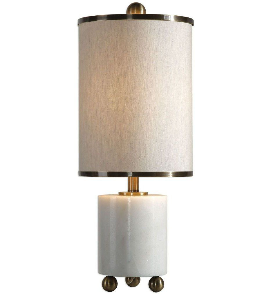 Volongo Stone Ivory Buffet Modern Table Lamp by Uttermost #29211-1