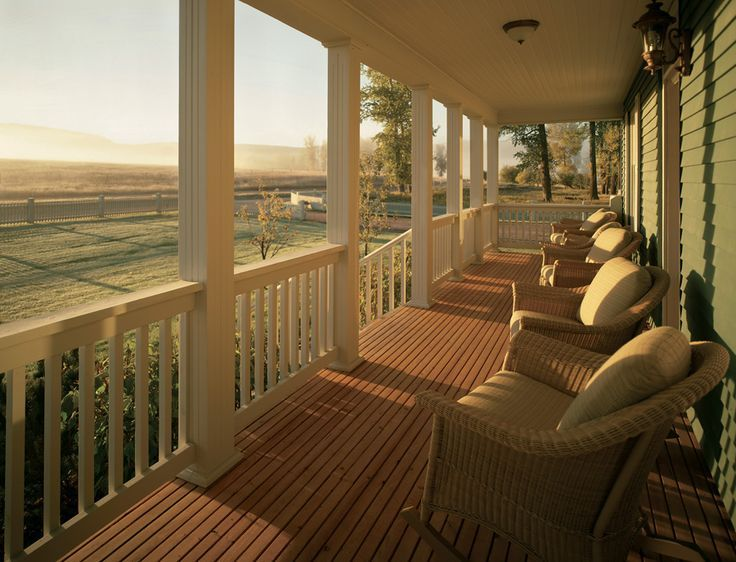 Front Porch On Ranch House | Montana Resort Vacation Home ... on Front Range Outdoor Living id=65759