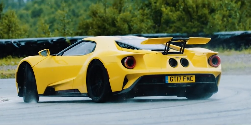 Watch A Screaming Yellow Ford Gt Blast Through Norway