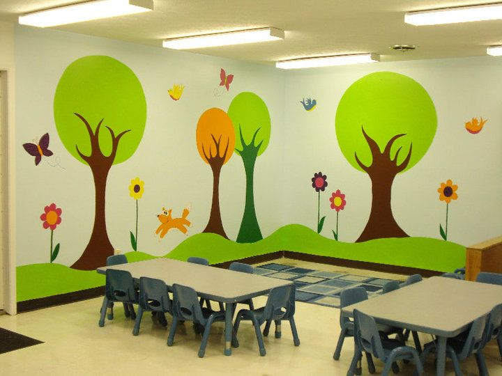 child care room design | Blue Ash Daycare Tree Room | sunday school ...
