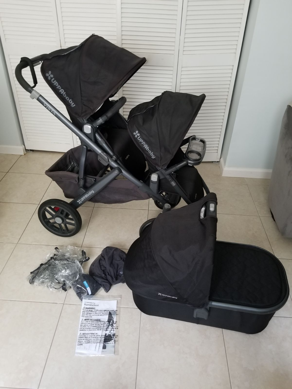 Uppababy vista Jake stroller, toddler seat and