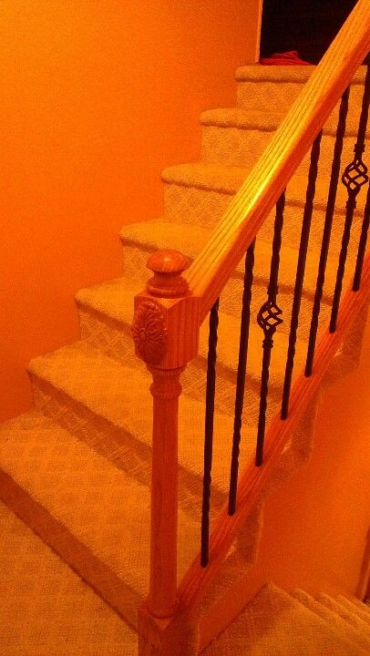 Our DIY bannister and railing
