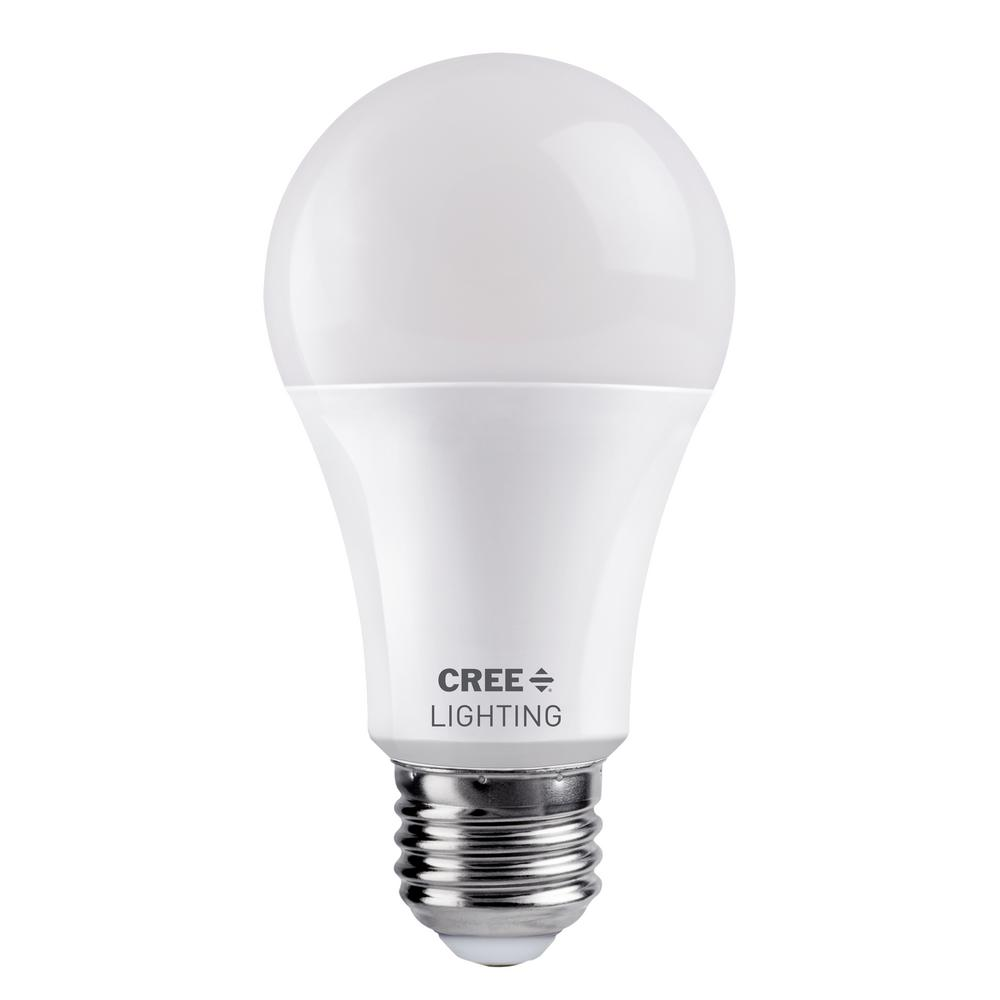 Cree 100 Watt Equivalent A19 Dimmable Exceptional Light Quality Led Light Bulb Daylight 5000k Ta19 16050mdfh25 12de26 1 11 The Home Depot In 2020 Led Light Bulb Light Bulb Bulb