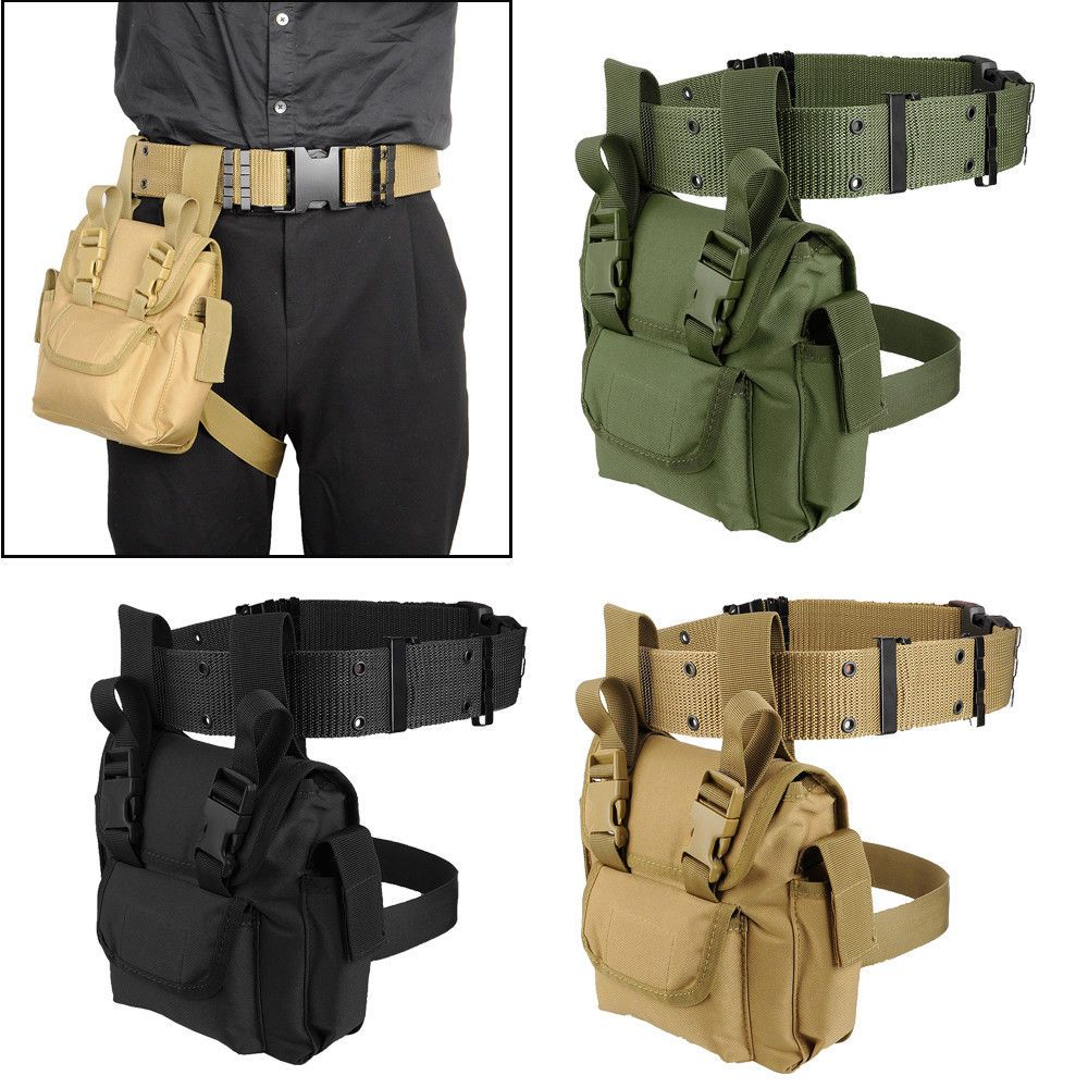 Tactical Belt Outdoor Equipment Wear Bag  Equipment Nylon Belt Cycling Camping M