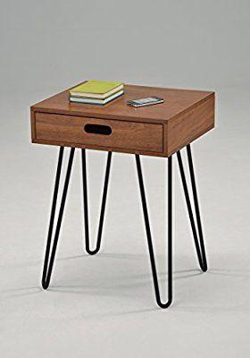Best Amazon Com Dark Oak Finish Side End Table Nighstand Black 640 x 480